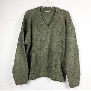 COOGI Vtg 80's Sweater Oversized Textured Unisex L